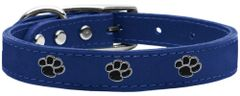 Leather Dog Collars: USA Genuine Leather PAWS Dog Collar in Various Colors & Sizes