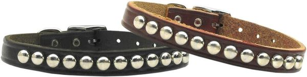 Stud Dog Collars: Genuine Leather Dog Collar Mirage Pet Products USA - STUD