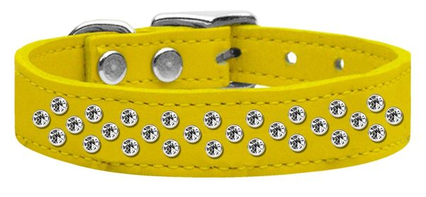 Leather Dog Collars: Genuine Leather Jewel Dog Collar by Mirage - SPRINKLES AB CRYSTALS