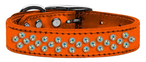 Leather Dog Collars: METALLIC Leather Jeweled Dog Collar by Mirage - SPRINKLES AB CRYSTALS
