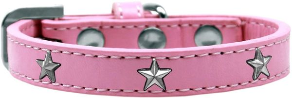 Widget Durable Dog Collars: Cute SILVER STAR Dog Collar in Various Sizes and Colors