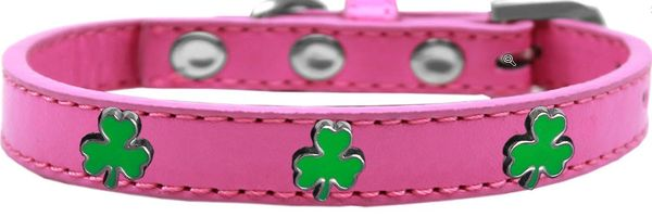 Widget Dog Collars: Cute SHAMROCK WIDGET Dog Collar in 6 Sizes and 4 Colors