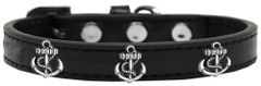 Widget Durable Dog Collars: Cute SILVER ANCHOR Dog Collar in Various Sizes and Colors