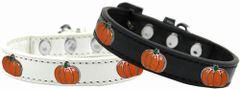 Widget Dog Collars: Cute Black or White PUMPKIN WIDGET Dog Collar in Various Sizes