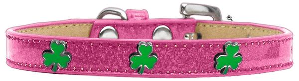 Widget Dog Collars: Ice Cream Dog Collar with SHAMROCK Widgets in Various Colors & Sizes