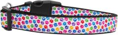 Dog Collars: Nylon Ribbon Collar CONFETTI PAWS by Mirage Pet Products USA - Matching Leash Sold Separately