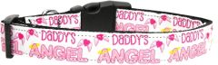 Dog Collars: Nylon Ribbon Collar DADDY'S ANGEL by MiragePetProducts USA - Matching Leash Sold Separately