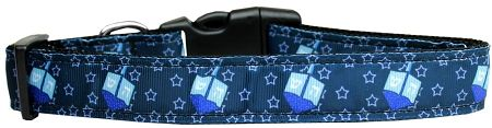 Dog Collars: Nylon Ribbon Collar DREIDEL, DREIDEL, DREIDEL by MiragePetProducts- Matching Leash Sold Separately