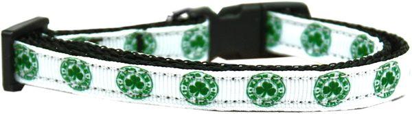 Holiday Dog Collars: Nylon Ribbon Dog Collar KISS ME I'M IRISH - Matching Leash Sold Separately