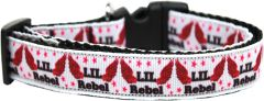 Dog Collars: Nylon Ribbon Collar LIL' REBEL by Mirage Pet Products USA - Matching Leash Sold Separately