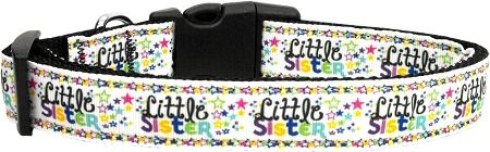 Dog Collars: Nylon Ribbon Collar LITTLE SISTER MiragePetProducts - Matching Leash Sold Separately