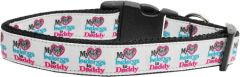 Dog Collars: Nylon Dog Collar MY HEART BELONGS TO DADDY - Matching Leash Sold Separately