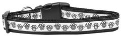Dog Collars: Nylon Ribbon Collar PEACE PAWS by MiragePetProducts - Matching Leash Sold Separately
