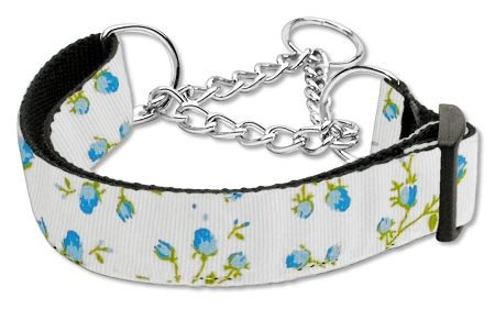 MARTINGALE DOG COLLARS: Nylon Ribbon ROSES Dog Collar - Matching Leash Sold Separately
