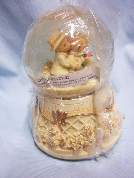 "Music Box; Vintage ""First Kiss"" Teddy Bears 6"" H - Let Me Call You Sweetheart"