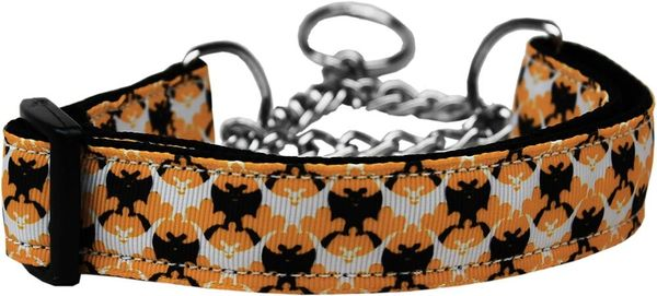 MARTINGALE DOG COLLARS: Nylon Ribbon Collar BAT ARGYLE - Matching Leash Sold Separately