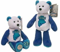 "COIN BEAR #23 MAINE State Coin 9"" Collectible PLUSH BEAR - LIMITED TREASURES"