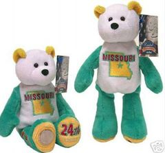"COIN BEAR #24 MISSOURI State Coin Collectible PLUSH 9"" BEAR - LIMITED TREASURES"