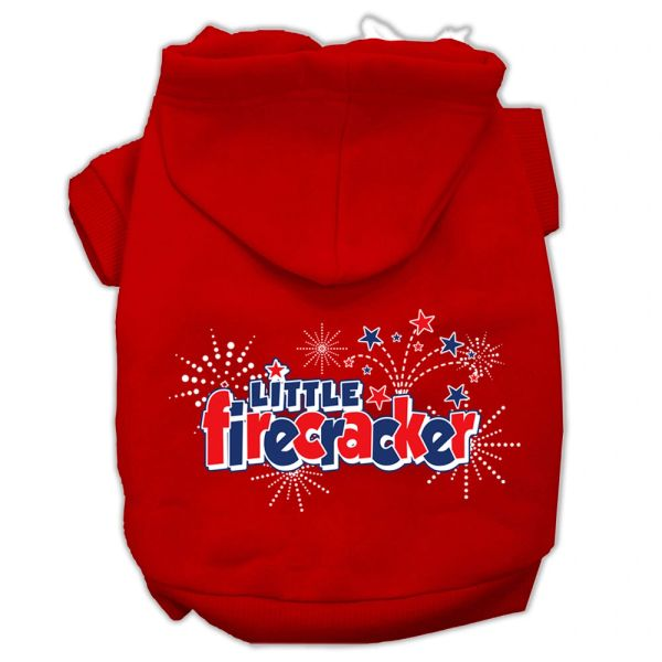 Dog Hoodies: LITTLE FIRECRACKER Screen Print Dog Hoodie Various Colors & Sizes by Mirage