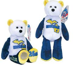 COIN BEAR #26 Michigan State Quarter Coin Collectible Plush Bear LIMITED TREASURES