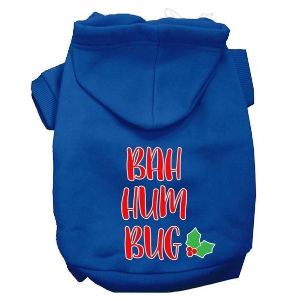 Dog Hoodies: Funny BAH HUM BUG Screen Print Dog Hoodie in Various Colors & Sizes by Mirage