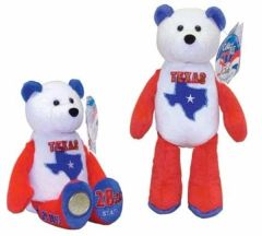 COIN BEAR #28 Texas State Quarter Coin Collectible Plush Bear LIMITED TREASURES