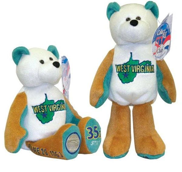 COIN BEAR #35 West Virginia State Quarter Collectibles Plush Bear LIMITED TREASURES