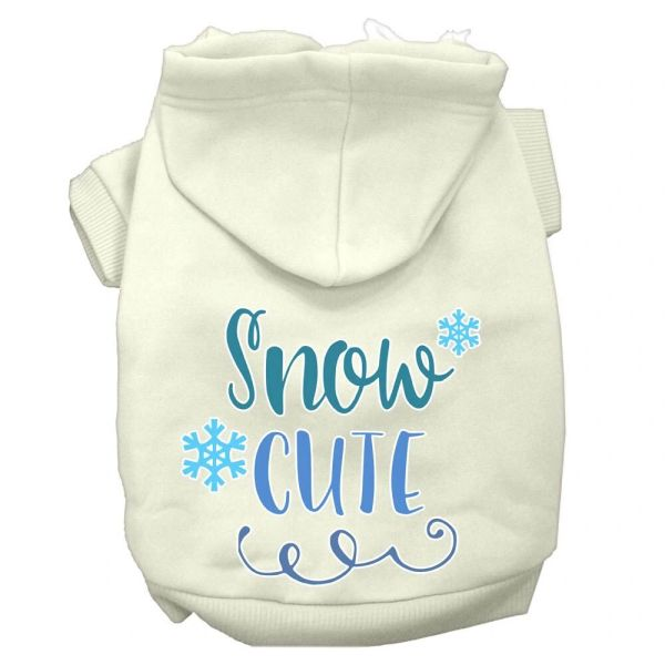 DOG HOODIES: SNOW CUTE Screen Print Dog Hoodie in Various Colors & Sizes by MiragePetProducts