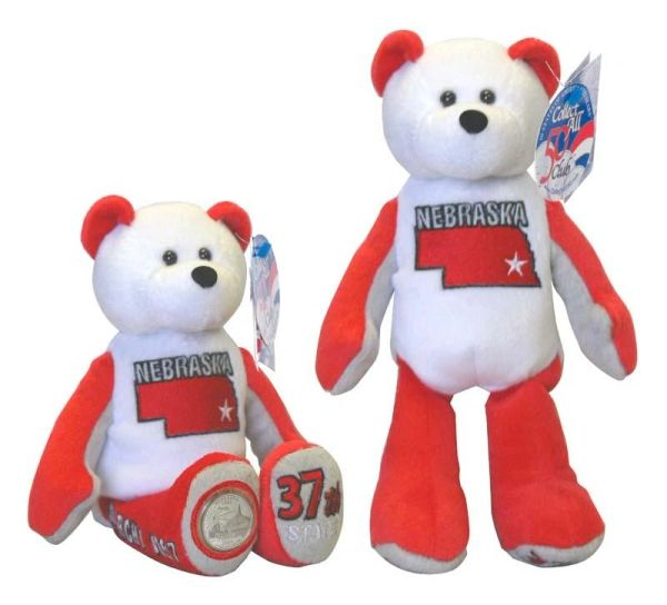 COIN BEAR #37 Nebraska State Quarter Coin Collectible Plush Bear LIMITED TREASURES