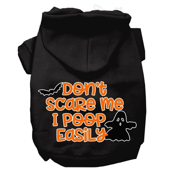 Dog Hoodies: DON'T SCARE ME I POOP EASILY Screen Print Dog Hoodie in Various Colors & Sizes by MiragePetProducts