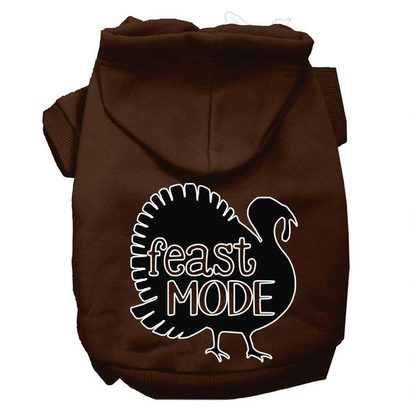 Dog Hoodies: FEAST MODE Screen Print Dog Hoodie in Various Colors & Sizes by MiragePetProducts