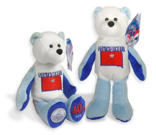 COIN BEAR #40 South Dakota State Quarter Collectible Plush Bear LIMITED TREASURES