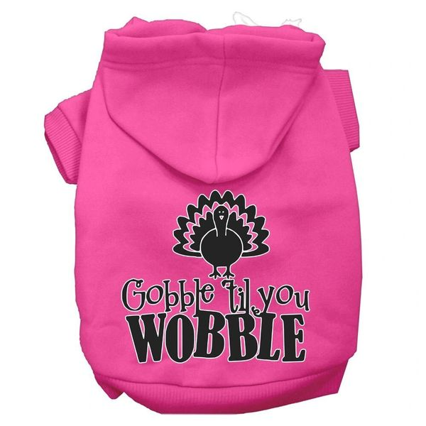 Dog Hoodies: GOBBLE TIL YOU WOBBLE Screen Print Dog Hoodie in Various Colors & Sizes by MiragePetProducts