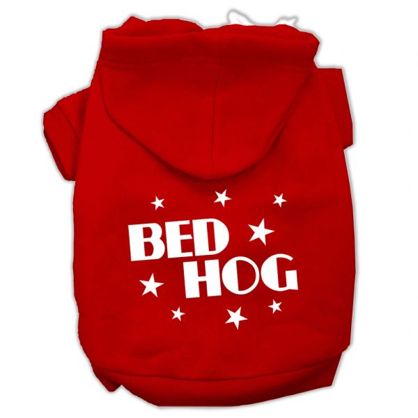 Dog Hoodies: BED HOG Screen Print Dog Hoodie in Various Colors & Sizes by Mirage