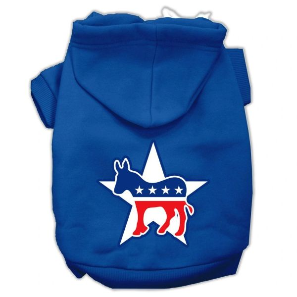 Dog Hoodies: DEMOCRAT Screen Print Dog Hoodie in Various Colors & Sizes by Mirage