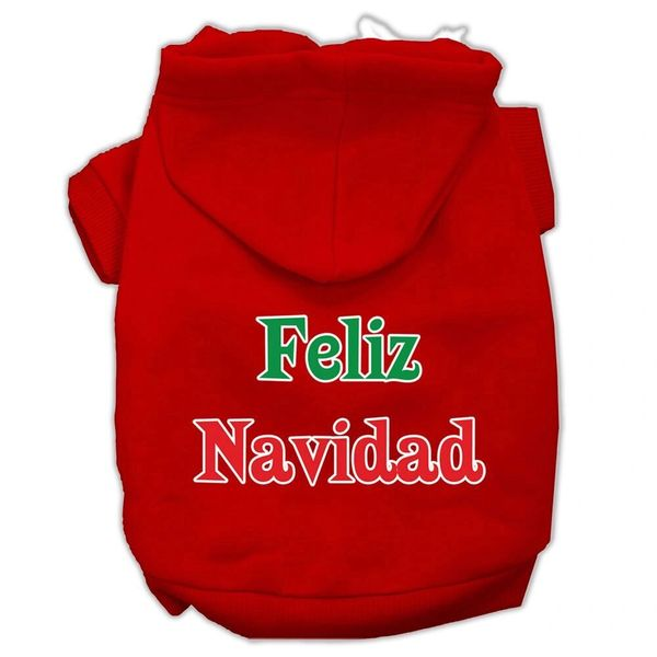 Dog Hoodies: FELIZ NAVIDAD Screen Print Dog Hoodie in Various Colors & Sizes by MiragePetProducts