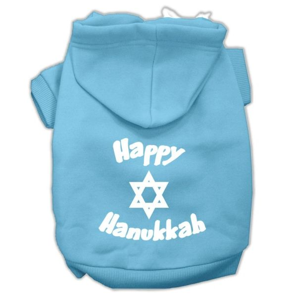 Dog Hoodies: HAPPY HANUKKAH Screen Print Dog Hoodie in Various Colors & Sizes