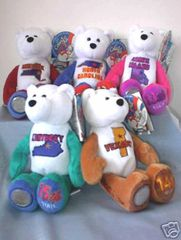 COIN BEARS 2001 Set State Quarter Plush Coin Bears #11 - #15 LIMITED TREASURES