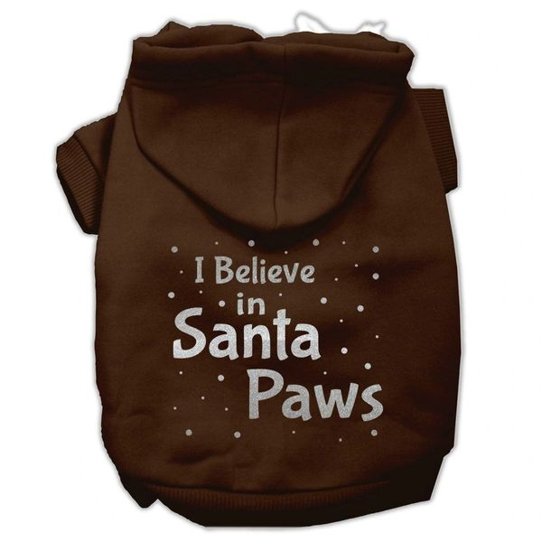 Dog Hoodies: I BELIEVE IN SANTA PAWS Screen Print Dog Hoodie in Various Colors & Sizes