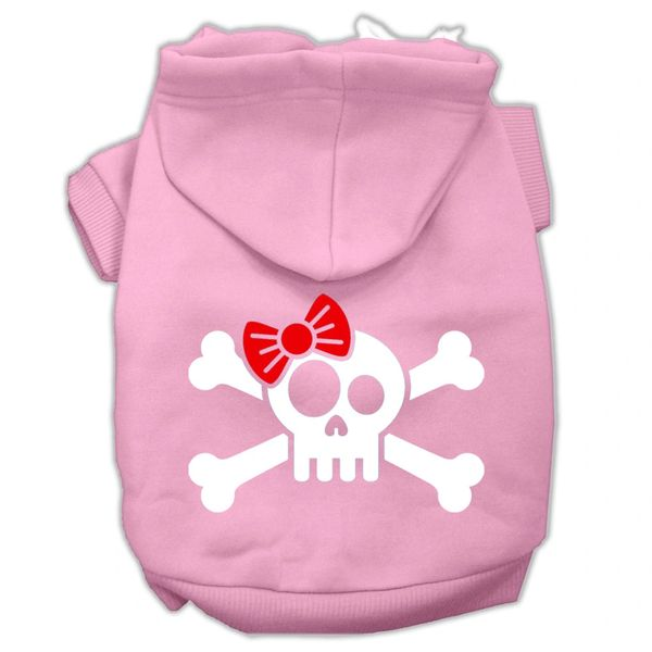 Dog Hoodies: Screen Print SKULL CROSSBONE BOW Dog Hoodie in Various Colors & Sizes