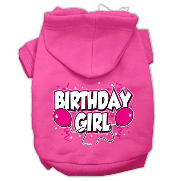 Dog Hoodies: BIRTHDAY GIRL Screen Print Dog Hoodie in Various Colors & Sizes by Mirage