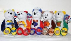 COIN BEARS 2004 Limited Treasures Collectible State Coin Bears #26 - #30