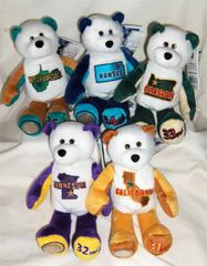 COIN BEARS 2005 Limited Treasures State Coin Collectible Plush Bears #31 - #35