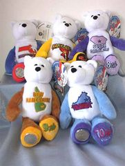 COIN BEARS 2000 Collectible State Quarter Coin Bears #6 - #10 LIMITED TREASURES