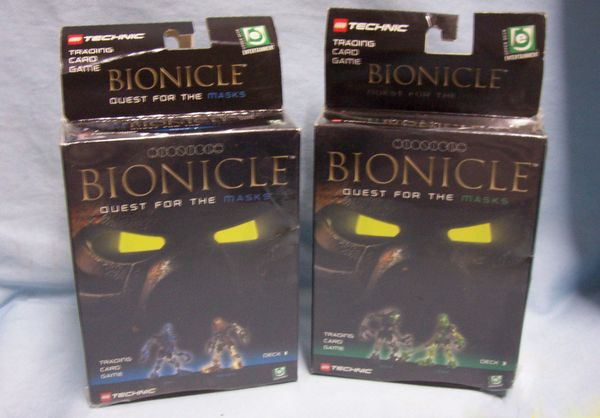 Games: Collectible Trading Card Games Bionicle Quest for the Masks Deck 1, Deck 3 by Lego