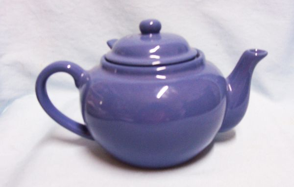 TEAPOT: Tea pot with infuser Old Amsterdam 2 Cup Ceramic Ware Cadet Blue