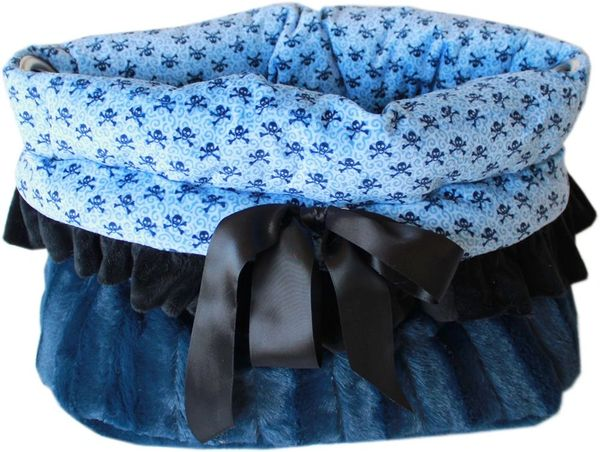 Dog Bed/Car Seat: Reversible Snuggle Bug Pet Bed, Bag, Car Seat for Pets 15 lb & Under in (2) HALLOWEEN Patterns