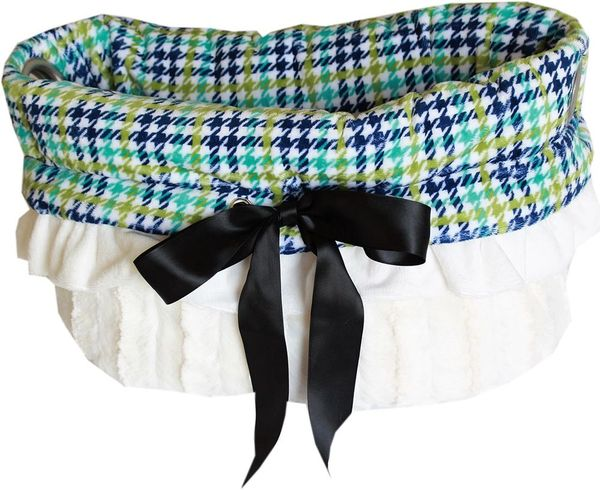 Dog Beds/Car Seat: Reversible Snuggle Bugs Pet Bed, Bag, Car Seat For Pet 15 lbs & Under in (5) PLAID Colors
