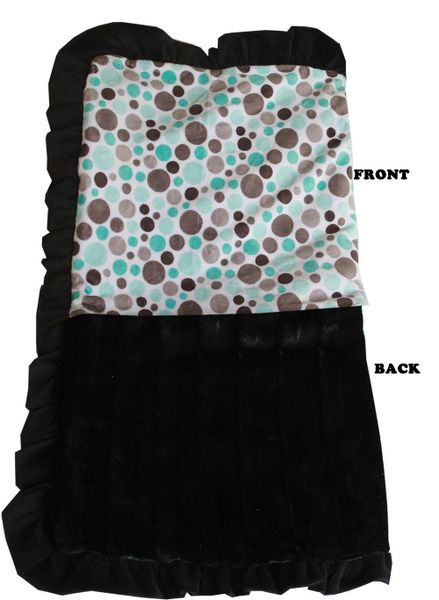 DOG BLANKETS: Pet Blankets Luxurious Fabric Washable Reversible Sizes From Carrier to Jumble - (3) PARTY DOTS Patterns