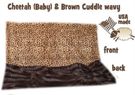 DOG BLANKETS: Pet Blankets Luxurious Fabric Washable Reversible Sizes From Carrier to Jumble - (3) ANIMAL PRINTS Design